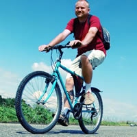 Pan na rowerze