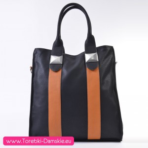 Czarna torba shopperbag